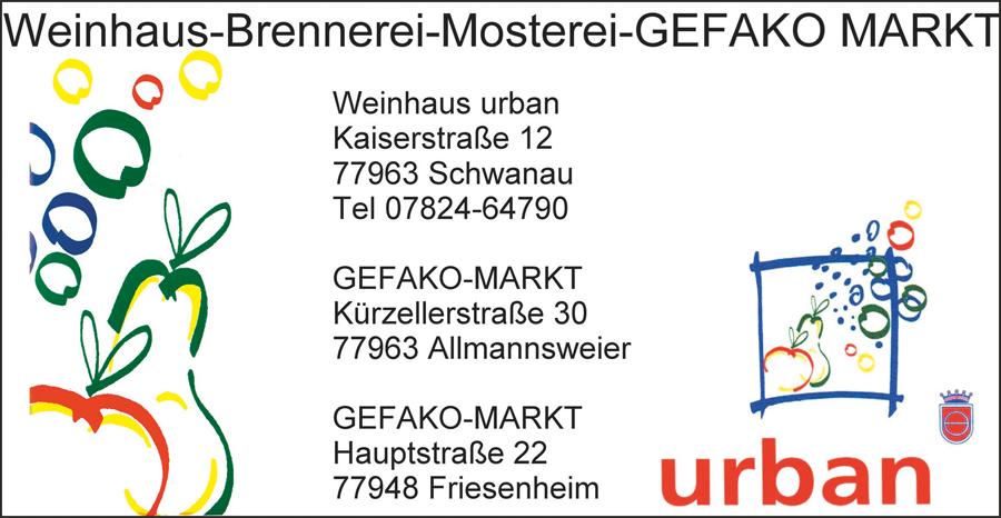 Weinhaus--Mosterei-GEFAKO MARKT Urban