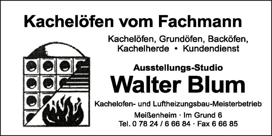 Kachelöfen vom Fachmann Walter Blum