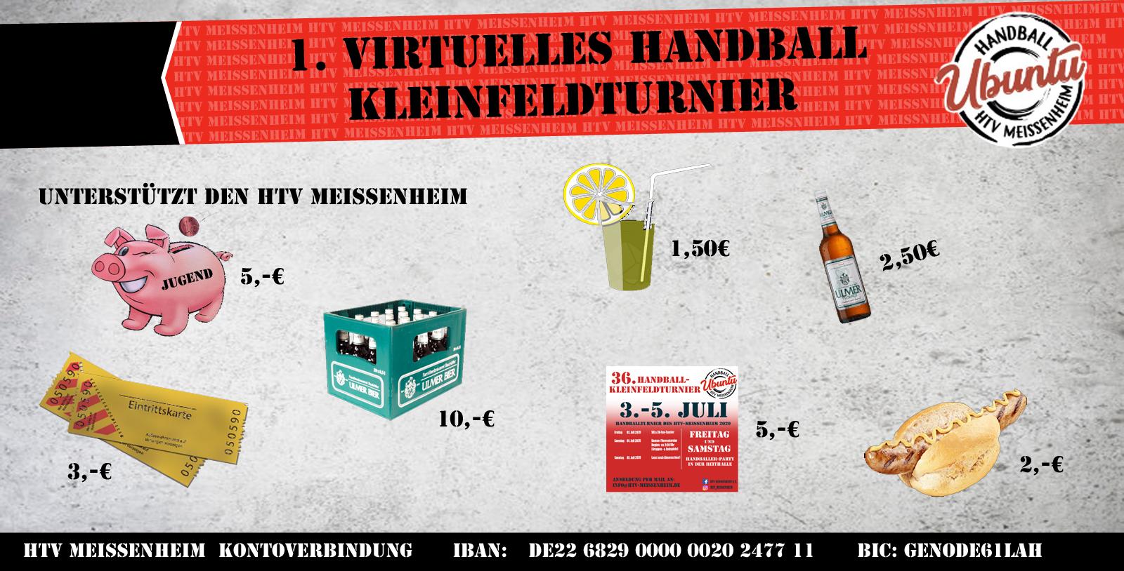 1. virtuelles Handball-Kleinfeldturnier